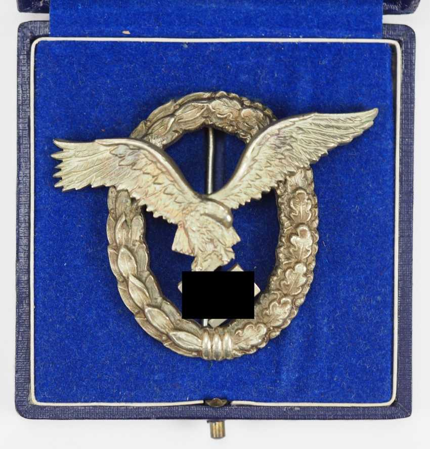 Pilot badge, in a case - IMME. - photo 1