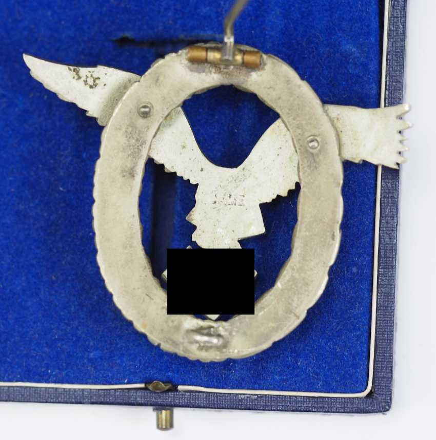 Pilot badge, in a case - IMME. - photo 2