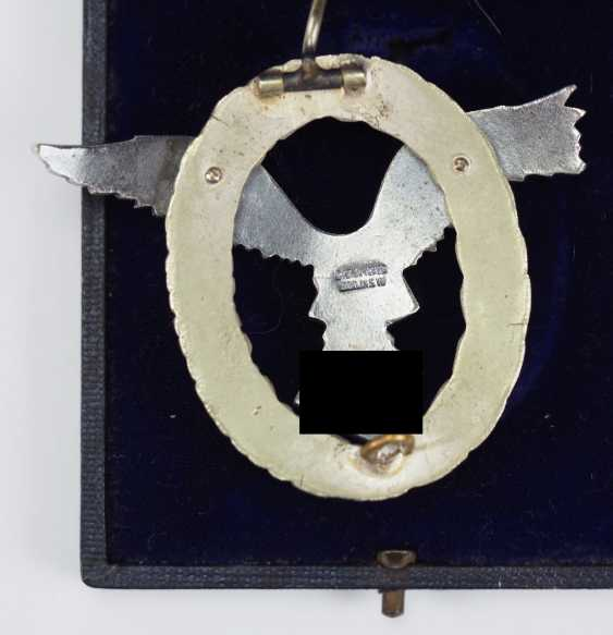 Pilot badge, in a case - Juncker. - photo 2
