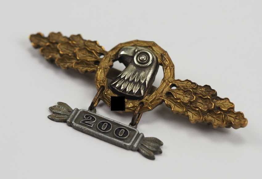 """Frontline flying clasp for spotters, Gold, with pendant """"200"""". - photo 2"""