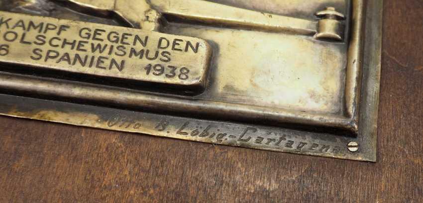 Condor Legion badge of the 1./ Flak-Division 88. - photo 2