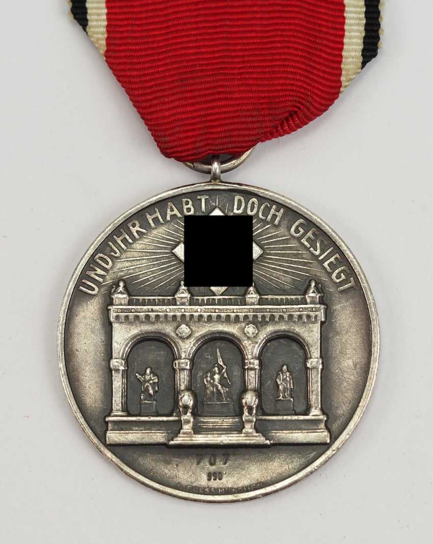 "Badge of honour of 9. November 1923, the so-called ""blood order"", 1. Model of the General of the infantry, SS-Obergruppenführer and Reichsführer of the Nazi war Federal, Wilhelm Reinhard. - photo 3"