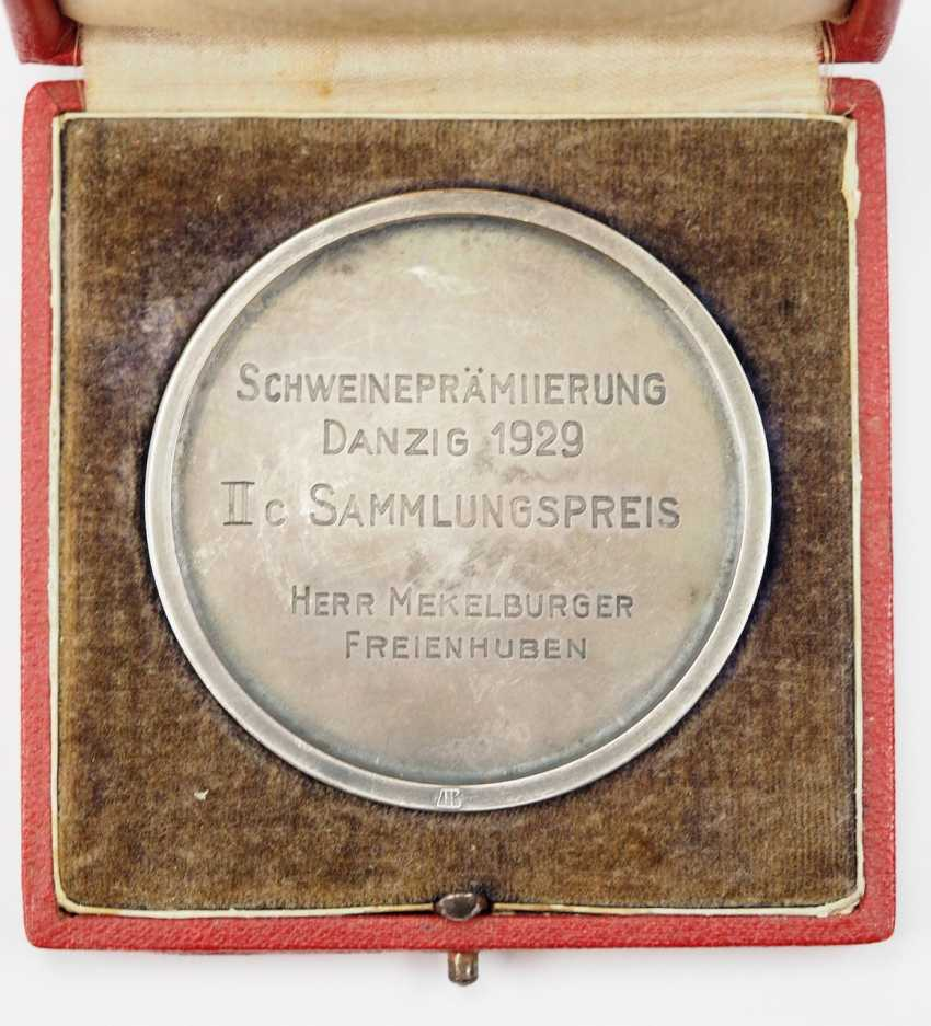 Free city of Danzig: medal for special achievements, in a case. - photo 3