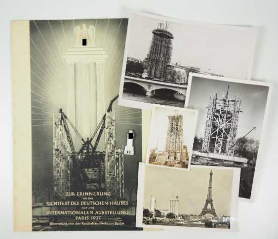 A reminder of the topping-out ceremony of the German house at the International exhibition in Paris in 1937. - photo 1