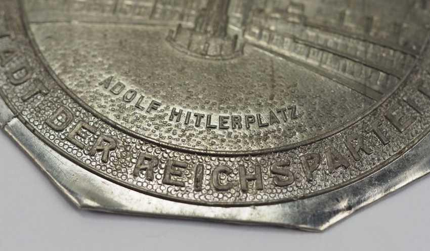 Plaque - Adolf Hitler Platz, Nuremberg, city of the Reich party days. - photo 2