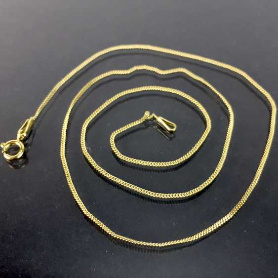 Fine neck-chain: yellow gold 333, length 44 cm, in very good preservation. - photo 1