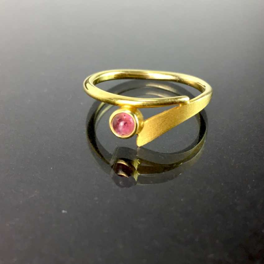 Ladies ring with tourmaline, yellow gold 585, elegant, understated. - photo 1