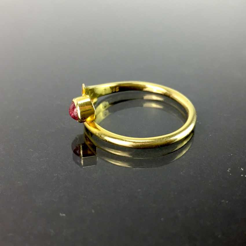 Ladies ring with tourmaline, yellow gold 585, elegant, understated. - photo 2