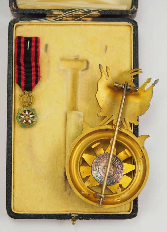 Albania: Skanderbeg Order, 1st Model (1925-1939), officer's decoration, in a case. - photo 4