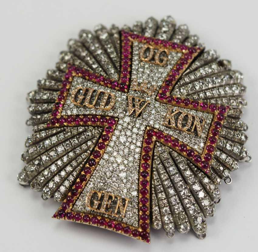 Denmark: Dannebrog Order, 19. Century, luxury-breast star with diamonds. - photo 7