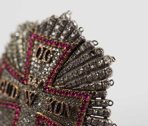 Denmark: Dannebrog Order, 19. Century, luxury-breast star with diamonds. - photo 8