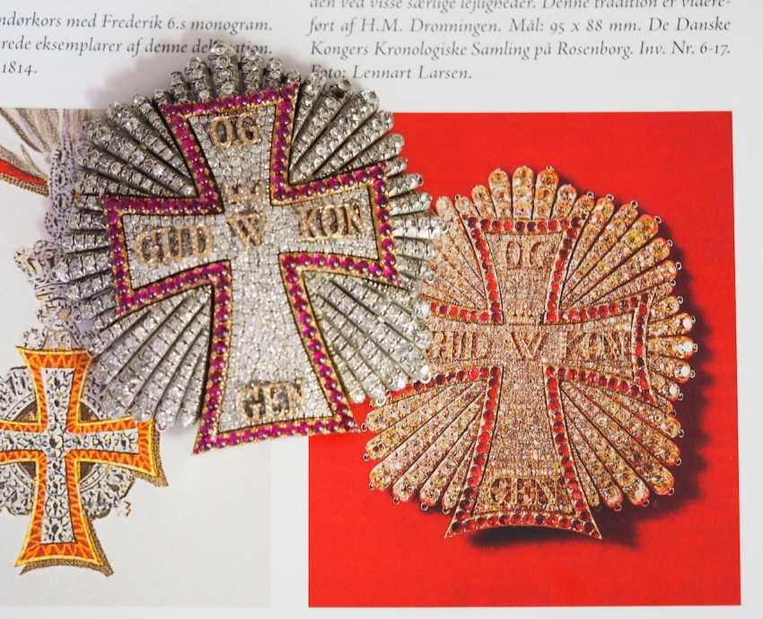 Denmark: Dannebrog Order, 19. Century, luxury-breast star with diamonds. - photo 9