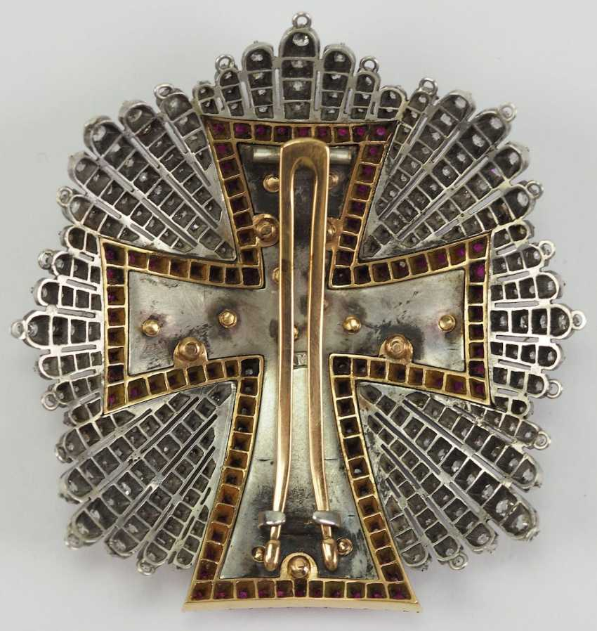Denmark: Dannebrog Order, 19. Century, luxury-breast star with diamonds. - photo 10