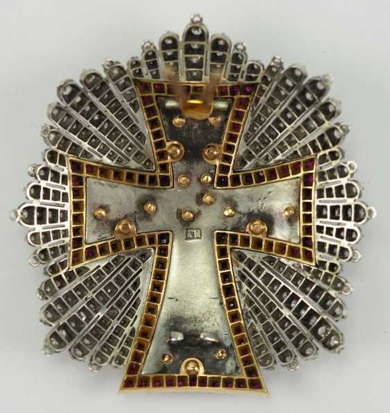 Denmark: Dannebrog Order, 19. Century, luxury-breast star with diamonds. - photo 11