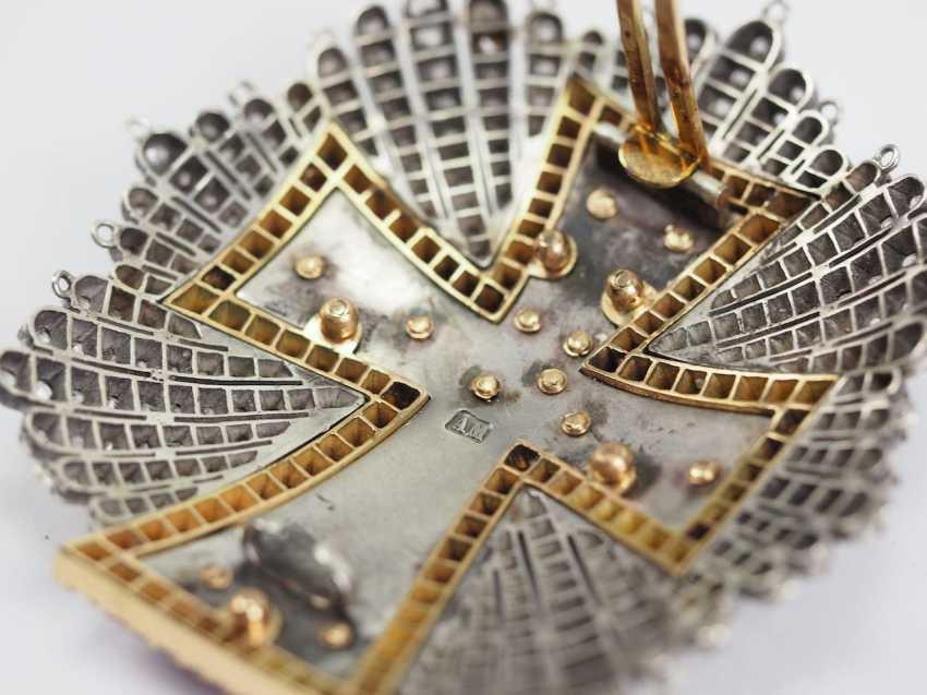 Denmark: Dannebrog Order, 19. Century, luxury-breast star with diamonds. - photo 12