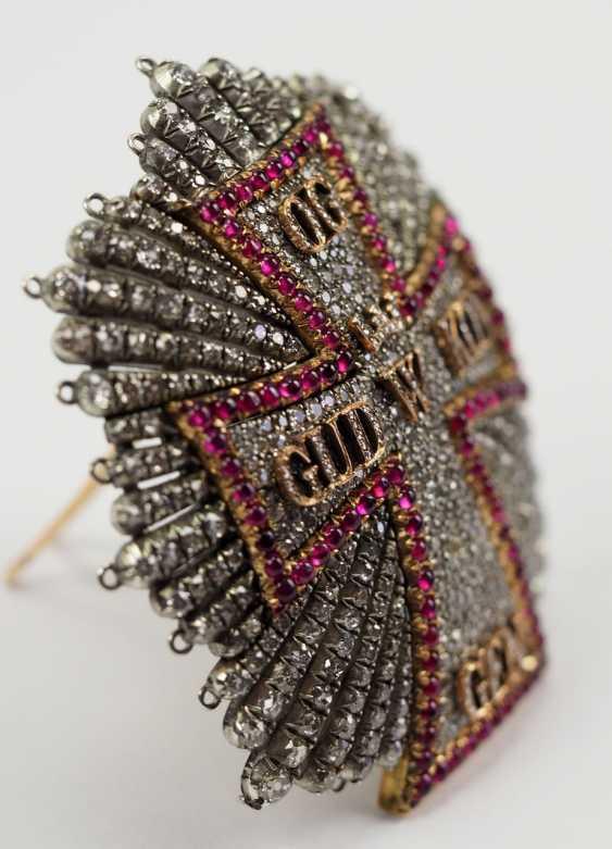 Denmark: Dannebrog Order, 19. Century, luxury-breast star with diamonds. - photo 2