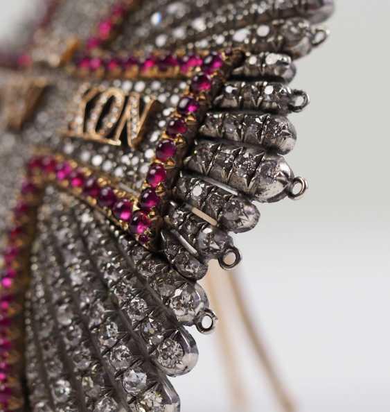 Denmark: Dannebrog Order, 19. Century, luxury-breast star with diamonds. - photo 4