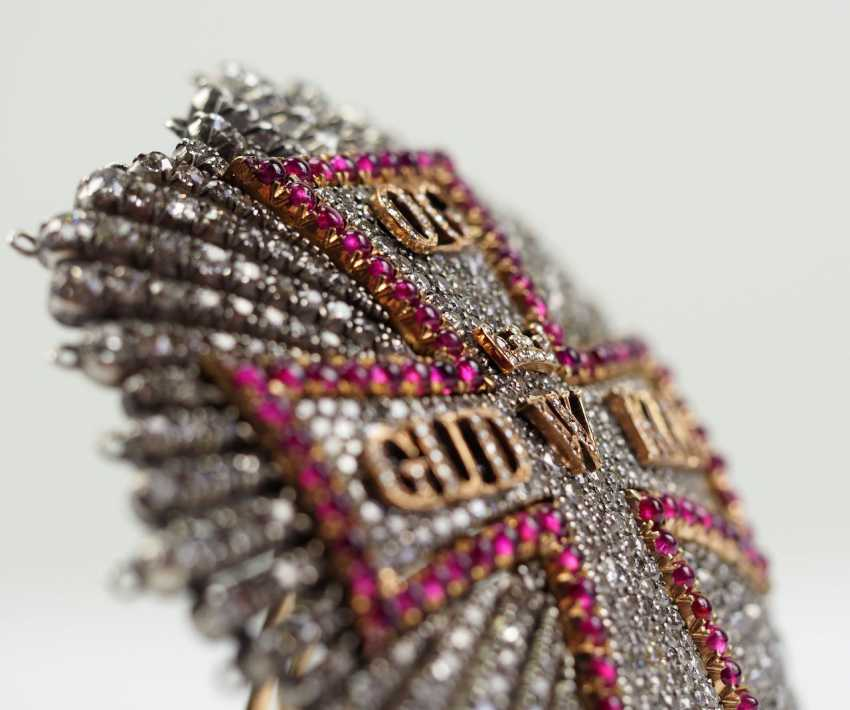 Denmark: Dannebrog Order, 19. Century, luxury-breast star with diamonds. - photo 5