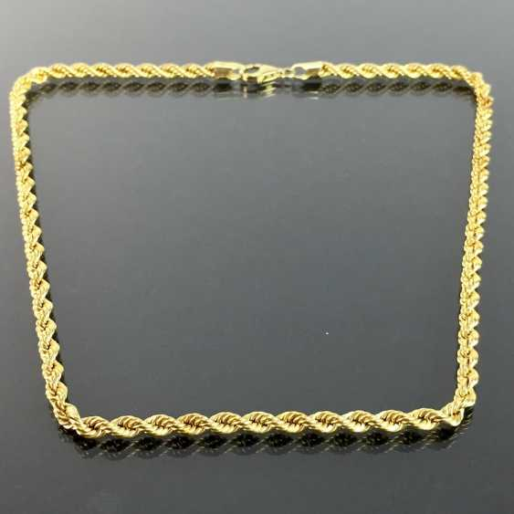 Unusual and heavy necklace: cord necklace / Rope Chain / cord band-Form / rotated shape, yellow gold 750, very good. - photo 1