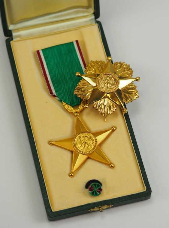 Italy: order of the star of solidarity, 1. Type, Breast Star. - photo 1