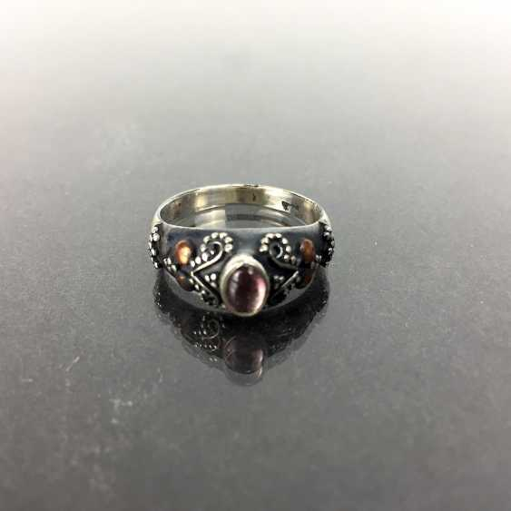 Filigree Ring with tourmaline, silver 925 - photo 1