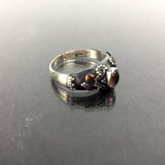 Filigree Ring with tourmaline, silver 925 - photo 2