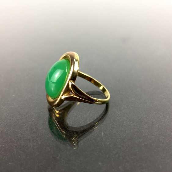 Ladies Ring: Yellow Gold 333, Chrysoprase. - photo 3