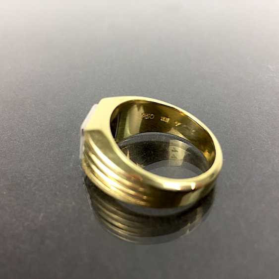 Fancy Ring is 0.8 carats, Yellow Gold / White Gold 750, very solid, brilliant solitaire, very good. - photo 5