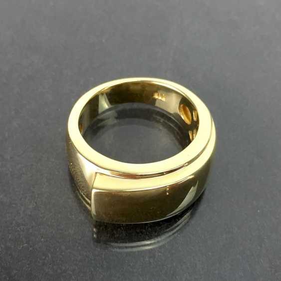 Of good, big, heavy ladies ' Ring, Yellow Gold 585, unworn / new, see, is very good. - photo 1