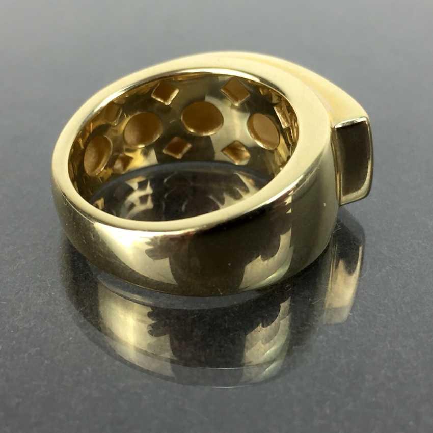 Of good, big, heavy ladies ' Ring, Yellow Gold 585, unworn / new, see, is very good. - photo 2
