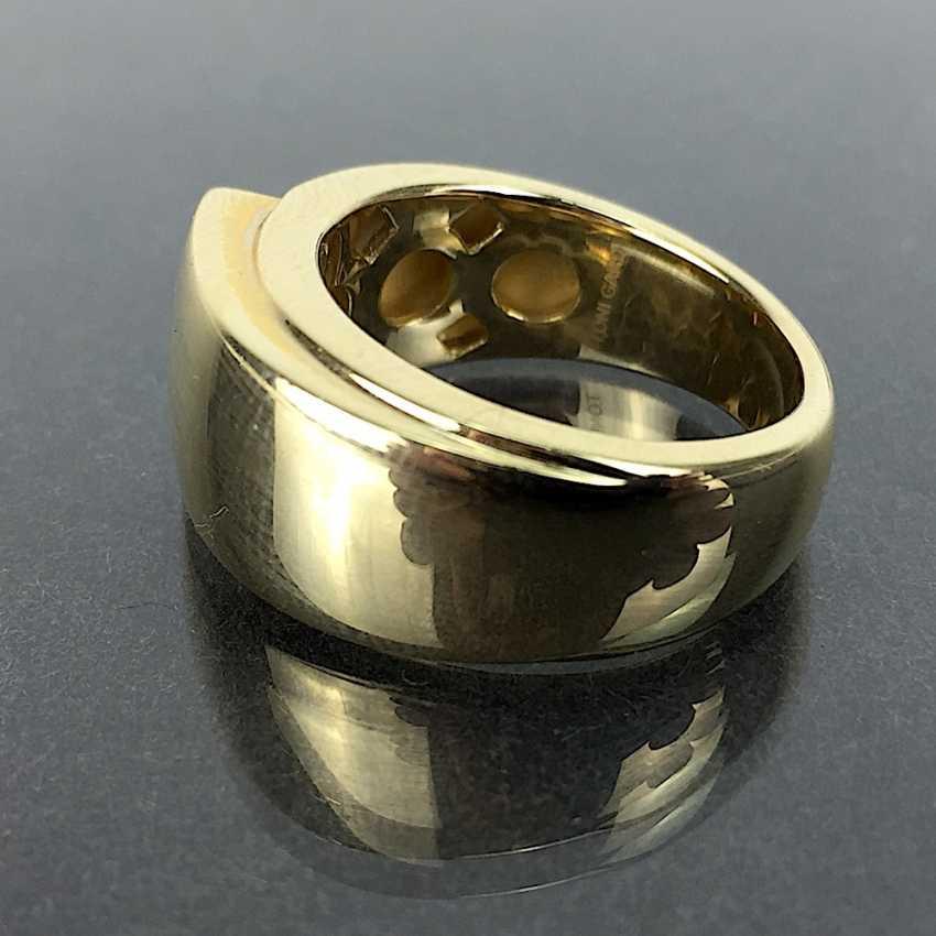 Of good, big, heavy ladies ' Ring, Yellow Gold 585, unworn / new, see, is very good. - photo 3