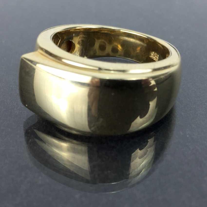 Of good, big, heavy ladies ' Ring, Yellow Gold 585, unworn / new, see, is very good. - photo 4