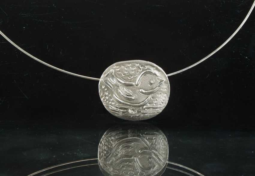 "Silver Pendant ""Sparrow Child"", One Of A Kind, Hand Work. - photo 1"