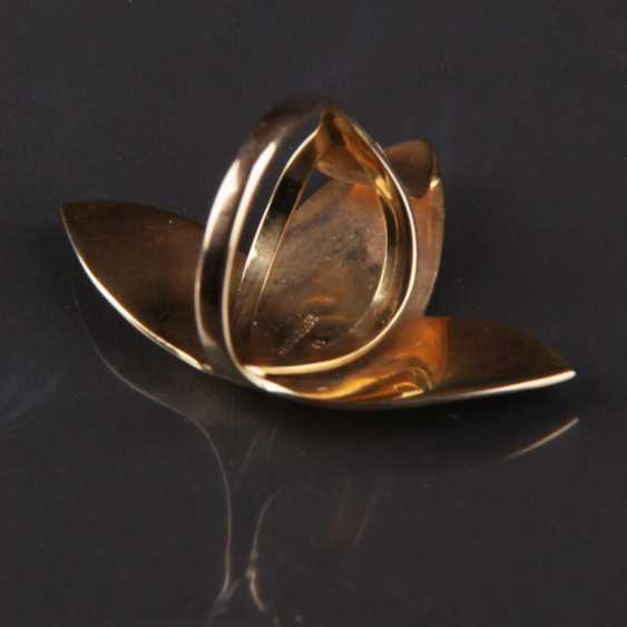 Special Hand Work Ring, Ivy Leaf, Yellow Gold 333 - photo 3