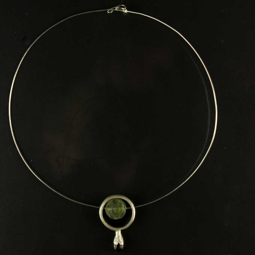 Designer Anhhänger, smoky quartz and Jade, silver 925 - photo 2