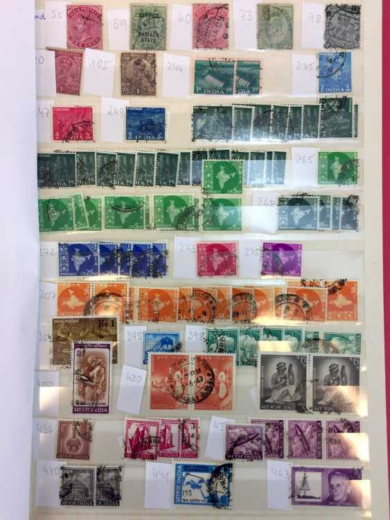 Assorted stamp collection AFRICA, SOUTH America, RUSSIA, MIDDLE EAST, ASIA: China, Japan, India, Pakistan, Burma,.. - photo 7