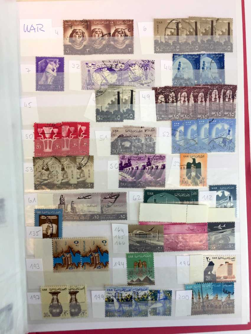 Assorted stamp collection AFRICA, SOUTH America, RUSSIA, MIDDLE EAST, ASIA: China, Japan, India, Pakistan, Burma,.. - photo 9
