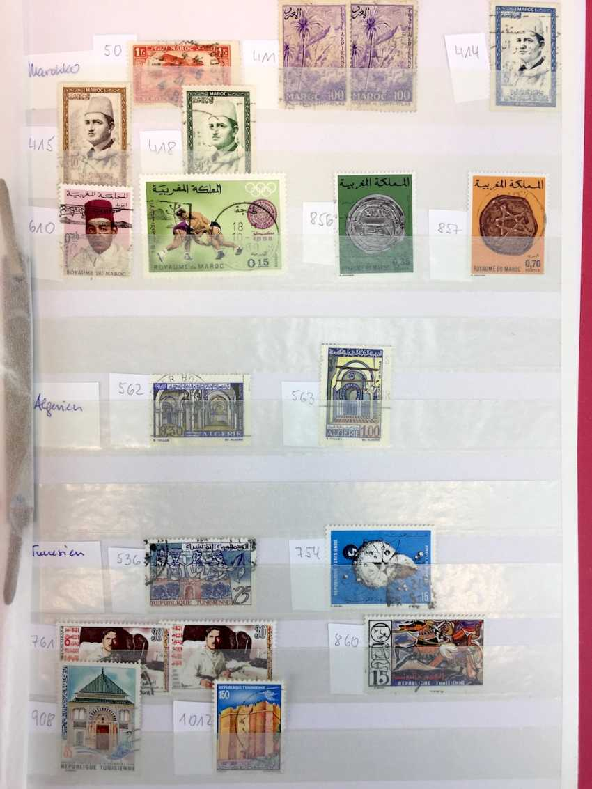 Assorted stamp collection AFRICA, SOUTH America, RUSSIA, MIDDLE EAST, ASIA: China, Japan, India, Pakistan, Burma,.. - photo 11