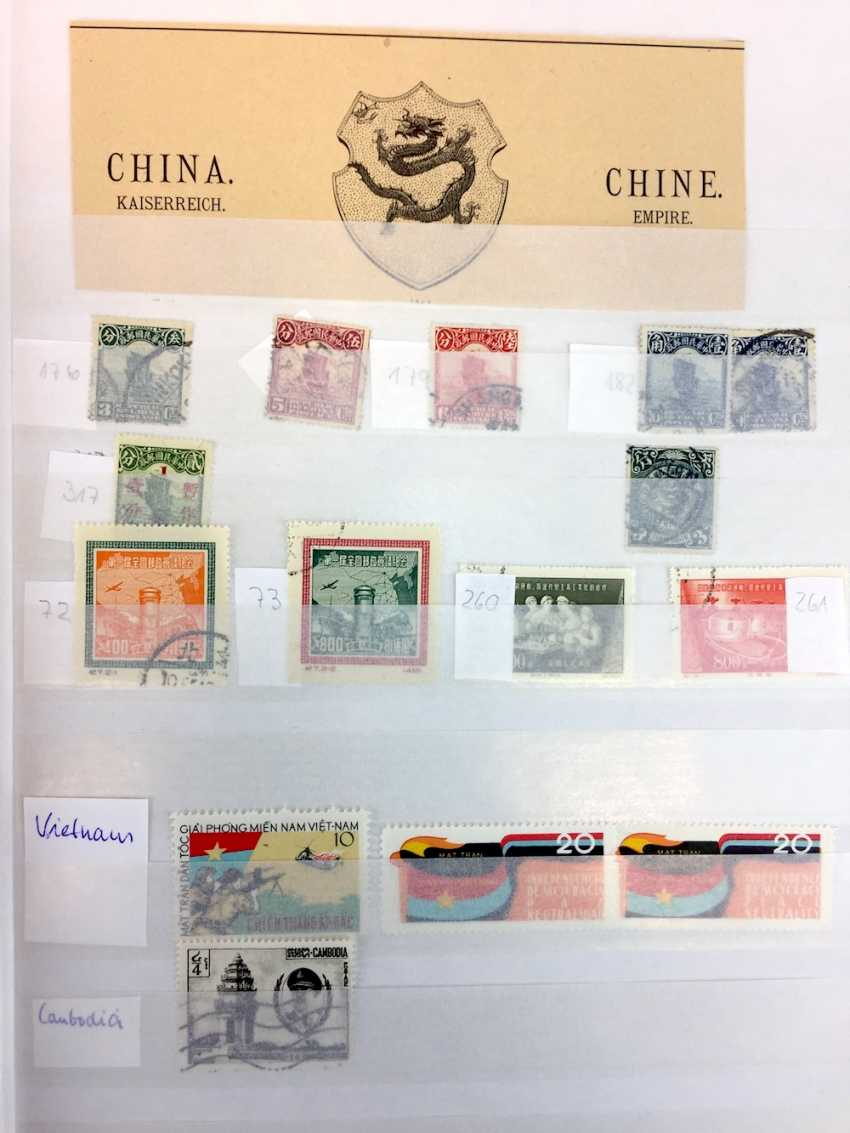 Assorted stamp collection AFRICA, SOUTH America, RUSSIA, MIDDLE EAST, ASIA: China, Japan, India, Pakistan, Burma,.. - photo 14