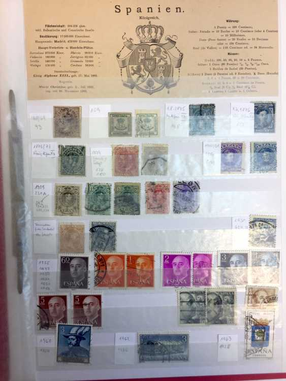 Stamp Collection: Italy, France, Belgium, The Netherlands, Spain, Portugal. - photo 5