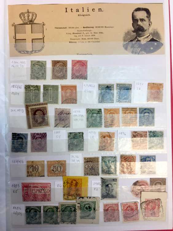 Stamp Collection: Italy, France, Belgium, The Netherlands, Spain, Portugal. - photo 7
