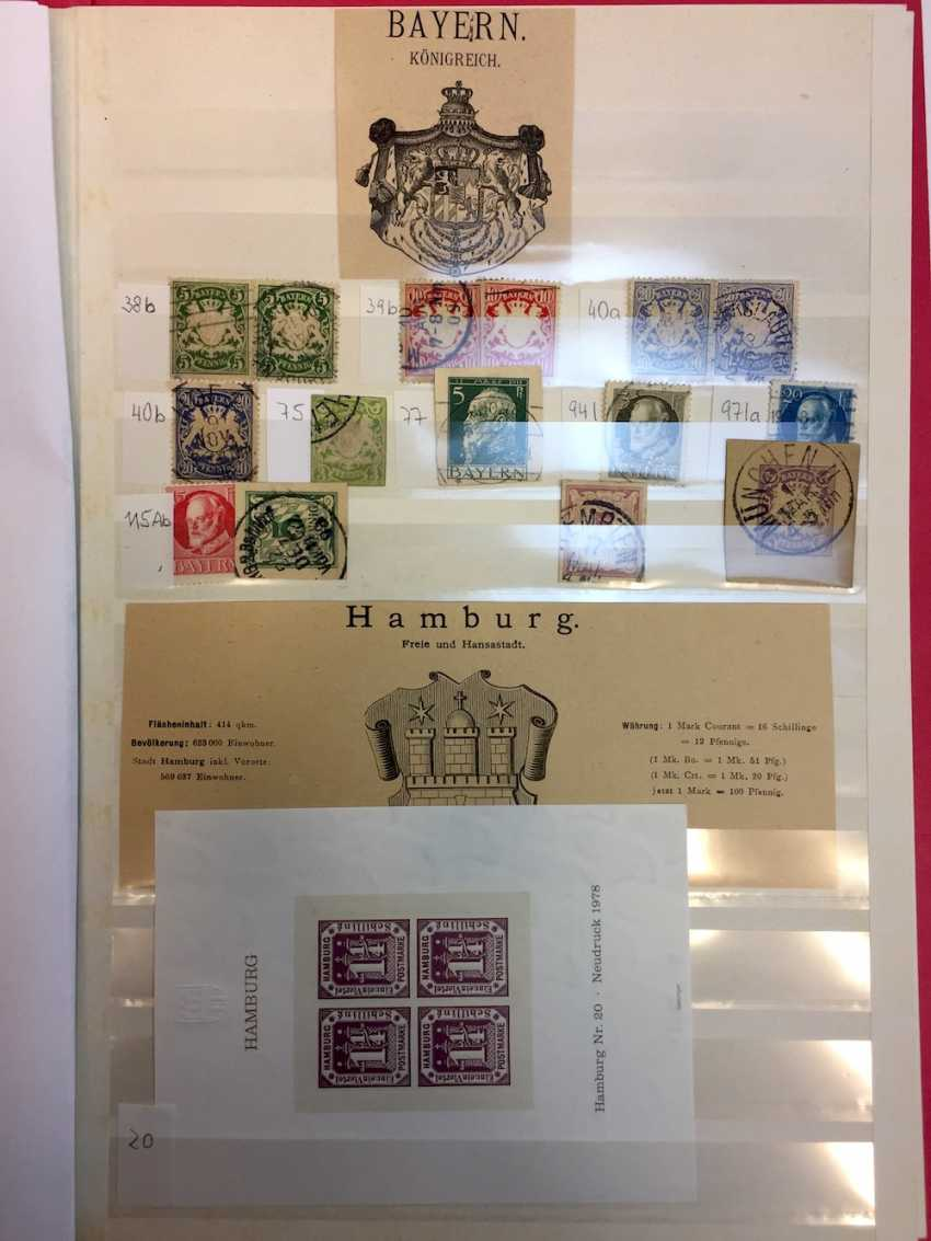 Stamp Collection: Altdeutschlan Diameter: Saxony, Prussia, Helgoland, Würtenberg, Hamburg, Bavaria, North-A German Federal. - photo 1