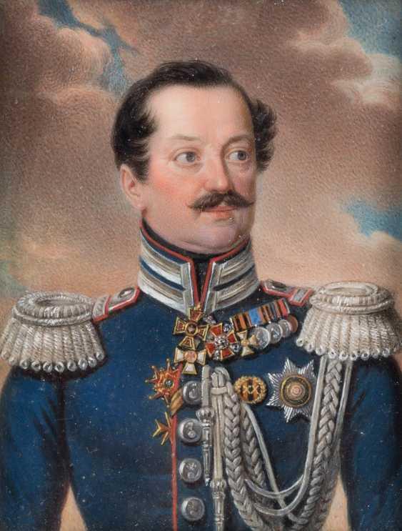 СТАНИСЛАВ MARSZALKIEWICZ 1798 Варшава - 1872 ebd. (приписывается) ОЧЕНЬ ТОЧНЫЙ портрет миниатюра: АНДРЕЙ ЯКОВЛЕВИЧ STOROGENKO - фото 1