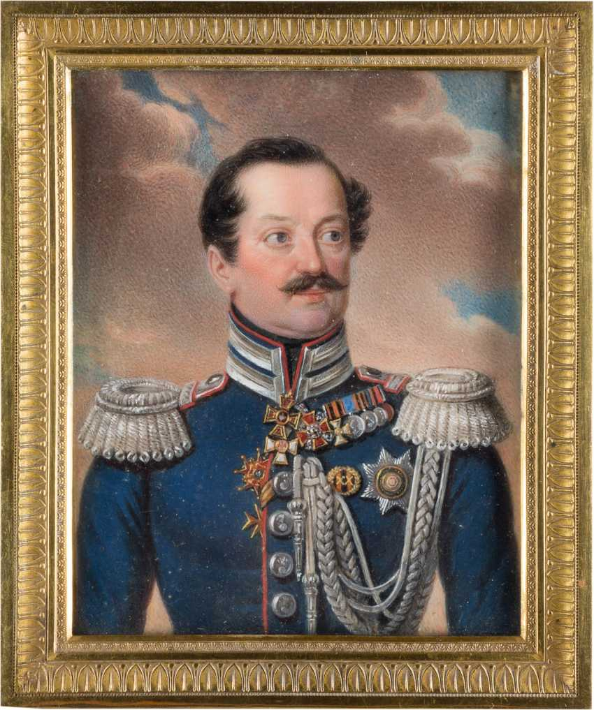 СТАНИСЛАВ MARSZALKIEWICZ 1798 Варшава - 1872 ebd. (приписывается) ОЧЕНЬ ТОЧНЫЙ портрет миниатюра: АНДРЕЙ ЯКОВЛЕВИЧ STOROGENKO - фото 2