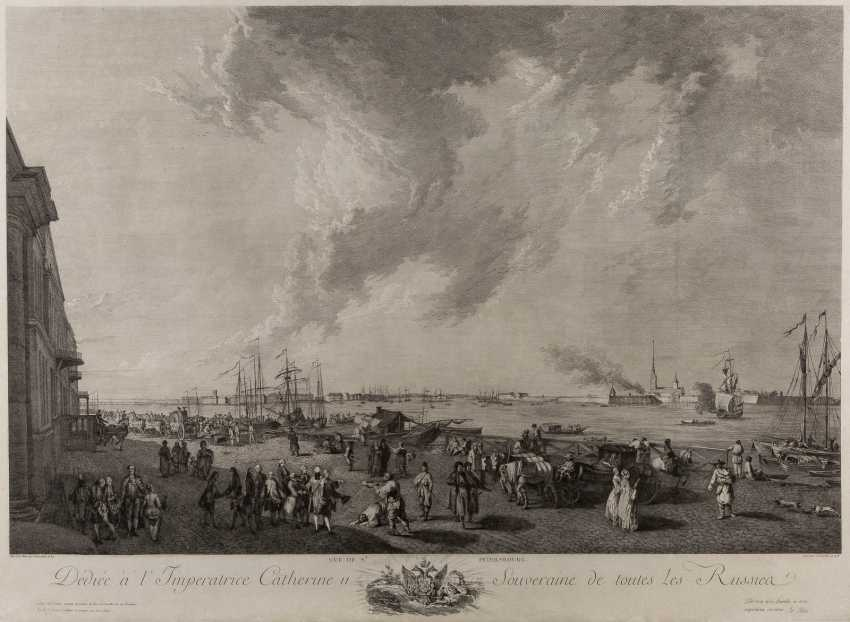 JACQUES PHILIPPE LEBAS 1707 Paris - 1783, ibid. view of St. Petersburg - photo 1