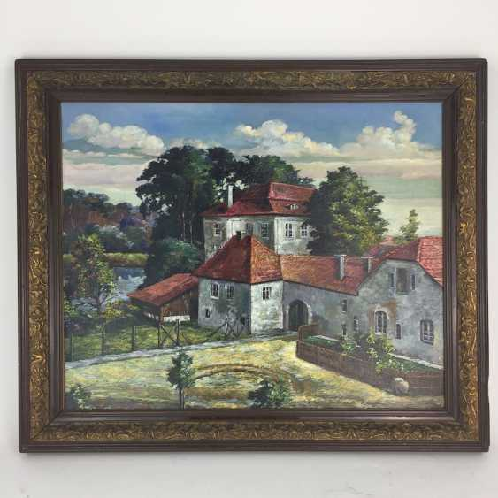Paul Drescher (brother of Arno Drescher): castle Grunewald / the hunting castle of Frederick the Great, Oil on pasteboard - photo 2