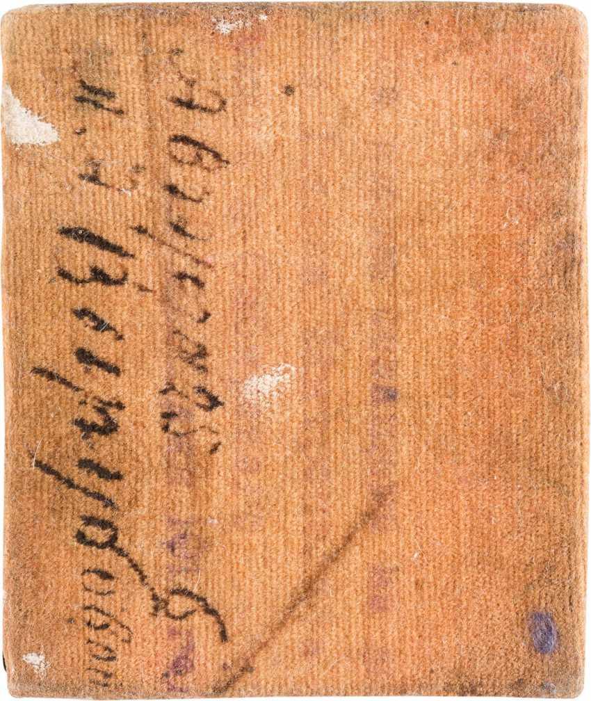 VERY INTERESTING MINIATURE ICON WITH SAINT JOHN OF TOBOLSK WITH SILVER-OKLAD - A GIFT FROM RASPUTIN'S - photo 2
