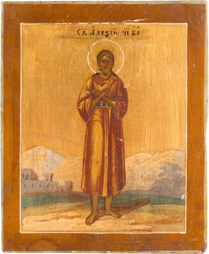 MINIATURE ICON WITH SAINT ALEXEI, MAN OF GOD - photo 1