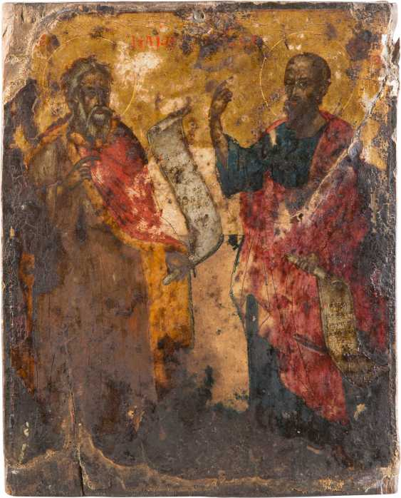 ICON WITH THE PROPHET ELIJAH AND THE APOSTLE PAUL - photo 1
