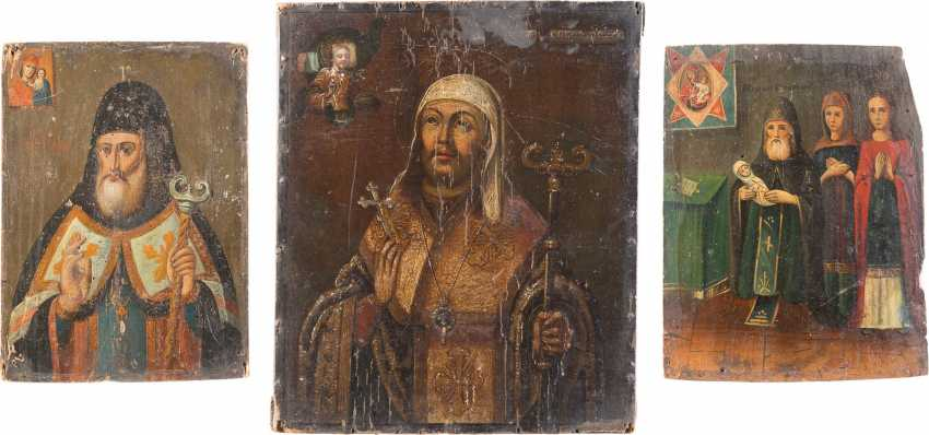 THREE ICONS, WITH THE METROPOLITAN OF THE EASTERN CHURCH - photo 1